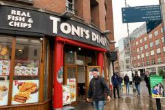 "Toni's Diner, the band's favorite ""chipper"" in Dublin."