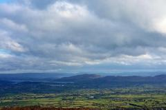 The view from atop Queen Maive's Cairn, outside Sligo