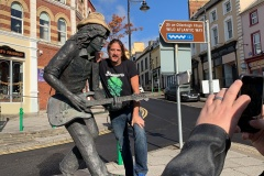 Paddy with Rory Gallagher, Ballyshannon