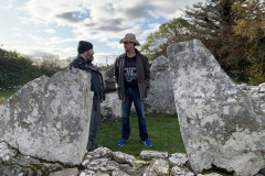 Mike and Paddy at Creevykeel Cairn, Co. Sligo