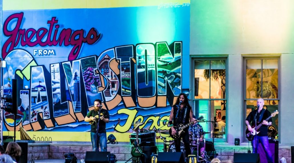 Photo of Blaggards performing live in Galveston by Debbie Dell.